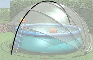 Buborékos medencesátor keresztmerevító szett CPS