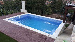 RENOLIT Alkorplan 3000 kék mozaikmintás úszómedence
