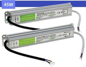 45W Led tápegység IP67 12V, 3,75A, vízálló, kötetlen