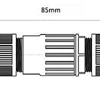 szökőkút és medencelámpa csatlakozására, Vízálló kábelcsatlakozó kapszula M25, 3PIN,1.0mm²-6.0mm² , kábel átmérő 5-14mm