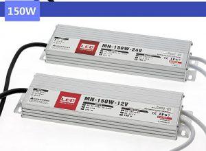 Ledes medencevilágításokhoz, medence lámpákhoz való TRANYITON 150W Led tápegység IP67 12V, 12,5A, vízálló, kötetlen, lapos kivitel