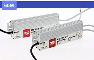 Ledes medence lámpákhoz való 60W Led tápegység IP67 12V, 5A, vízálló, kötetlen