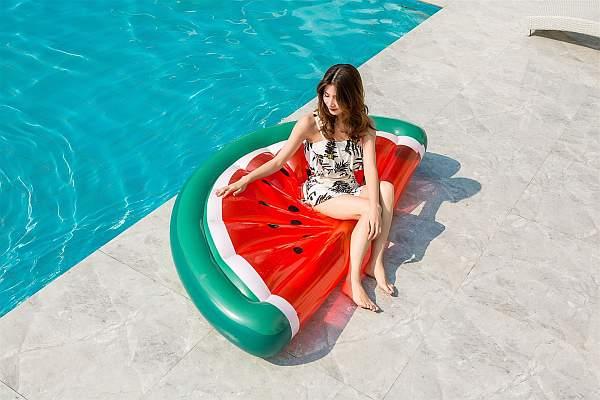 Felfújhatós görögdinnye, PVC strandmatrac 2020 modell választék, strandoláshoz, házi medencefürdőzéshez, baráti összejövetelekre, napozáshoz