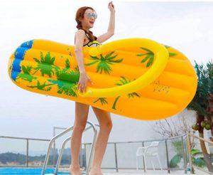 Felfújhatós flip-flop strandpapucs, PVC strandmatrac 2020 modell választék, strandoláshoz, házi medencefürdőzéshez, baráti összejövetelekre, napozáshoz