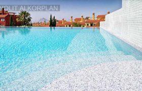 Alkorplan Touch Origin, gránit, világosszürke medencefólia 3D 35517413