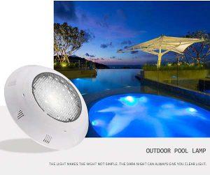 Utólagosan felszerelhetô ledes egyszínű meleg-hidegfehér medencelámpa, betonos medencékhez 25W-36W