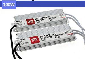 Medencelámpákhoz IP67 vízvédett transzformátorok,TRANYITON 100W Led tápegység IP67 12VDC, 8,3A, vízálló, kötetlen
