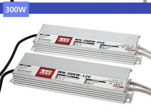 Medencelámpákhoz IP67 vízvédett transzformátorok, TRANYITON 300W Led tápegység IP67 12VDC, 25A, vízálló, kötetlen