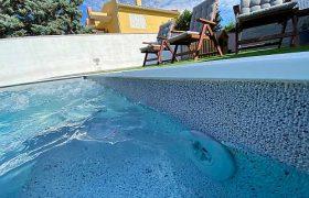 ELBTAL medencefólia világosszürke 3D Island-Dreams-Santorini-2